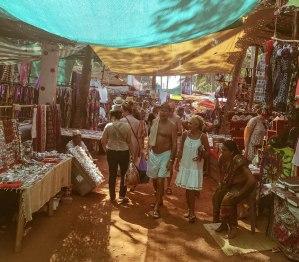 Anjuna Flea Market- Walking in the shade